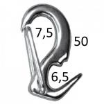 Карабин-крюк пружинный 50мм