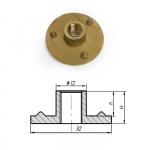 Т-гайка сквозная латунь 10 мм