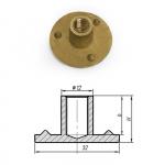 Т-гайка глухая латунь 15 мм