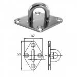 Планка ромб с проушиной 5 мм AISI 304