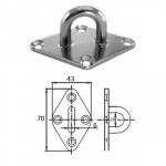 Планка ромб с проушиной 6 мм AISI 304