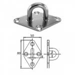 Планка ромб с проушиной 8 мм AISI 304