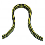 Линь плавающий плоский 14мм*25м желто-черный 115404P