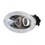 Прожектор носовой галогеновый 24V/55W, стальной корпус