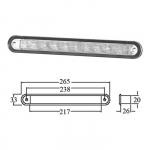 Светильник для подсветки палуб и трапов светодиодный 265х33мм, белый свет