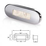 Светильник для подсветки палуб и трапов светодиодный 84х29 мм, белый теплыйсвет