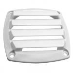 Крышка вентиляции пластмассовая квадратная 85х85мм, белая 3411-1269