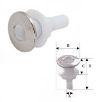 """Стакан дренажный 1.5"""" с клапаном, пластик 3411-2106"""
