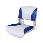Сиденье пластмассовое складное с подложкой Deluxe All Weather Seat, бело-синее