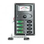 Панель переключателей 4шт с аналоговым вольтметром