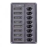 Панель переключателей 8шт с предохранителями постоянного тока