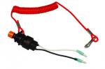 Кнопка с чекой для ПЛМ, провод 8 см, замыкание цепи при выдернутой чеке