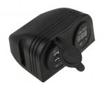 Разъем USB 5В 3.1А и цифровой вольтметр для крепления на приборную панель