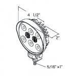 Прожектор палубный светодиодный, круглый 114мм.