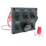 Панель переключателей 5шт с предохранителями постоянного тока