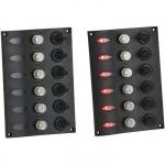 Панель переключателей 6шт со светодиодной подсветкой 116х168х65мм