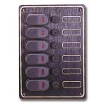 Электрическая панель 6 выключателей