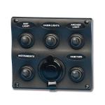 Электрическая панель 5 выкл.+ прикуриватель