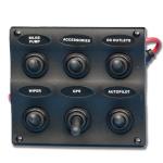 Электрическая панель с 6 выключателей