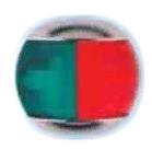 Ходовой огонь комбинированный, зеленый и красный, 2х112,5 °