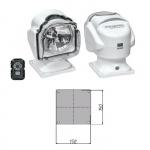 Прожектор стационарный галогеновый проводной пульт ДУ, серия 971, белый (Уц)