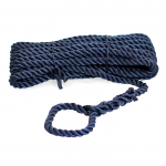Трёх прядный трос швартовый 12мм*10м тёмно-синий STMLN02