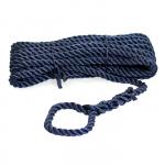 Трёх прядный трос швартовый 14мм*10м тёмно-синий STMLN03
